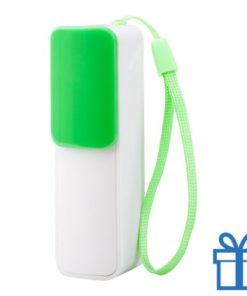 USB power bank 2200 mAh verstelbare poortcover groen bedrukken