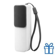 USB power bank 2200 mAh verstelbare poortcover zwart bedrukken