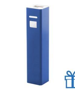 USB power bank aluminium 2200 mAh blauw bedrukken