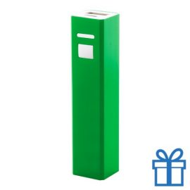 USB power bank aluminium 2200 mAh groen bedrukken