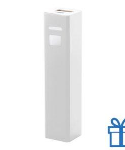USB power bank aluminium 2200 mAh wit bedrukken