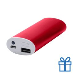USB power bank aluminium 4000 mAh rood bedrukken