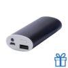 USB power bank aluminium 4000 mAh zwart bedrukken