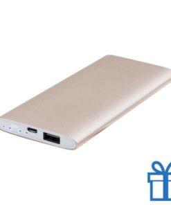 USB power bank aluminium 5000 mAh goud bedrukken