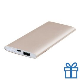 USB power bank aluminium 5000 mAh goud bedrukken