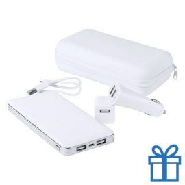 USB power bank en lader set 10000 mAh bedrukken