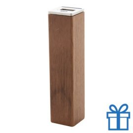 USB power bank hout 2200 mAh bedrukken