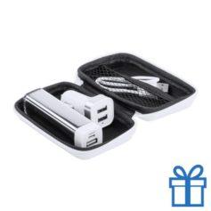 USB power bank met lader 2600 mAh bedrukken