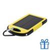 USB power bank met zonne energie lader 4000 mAh geel bedrukken