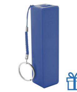 USB power bank plastic 2000 mAh blauw bedrukken