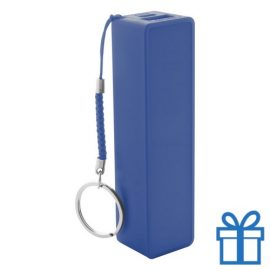 USB power bank plastic 2000 mAh blauw bedrukken