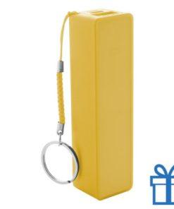 USB power bank plastic 2000 mAh geel bedrukken