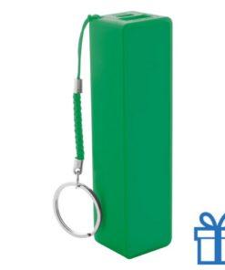USB power bank plastic 2000 mAh groen bedrukken
