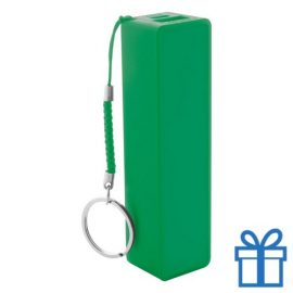 USB power bank plastic 2000 mAh groen bedrukken