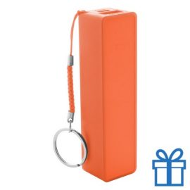 USB power bank plastic 2000 mAh oranje bedrukken