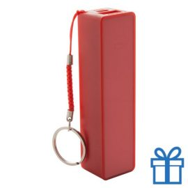 USB power bank plastic 2000 mAh rood bedrukken