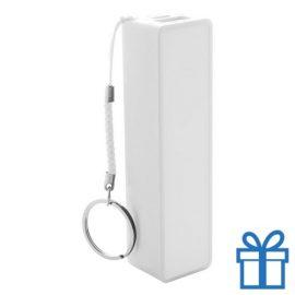 USB power bank plastic 2000 mAh wit bedrukken