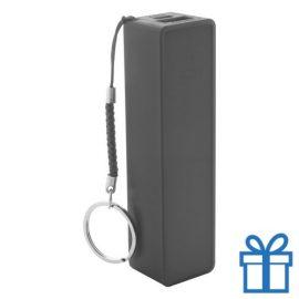 USB power bank plastic 2000 mAh zwart bedrukken