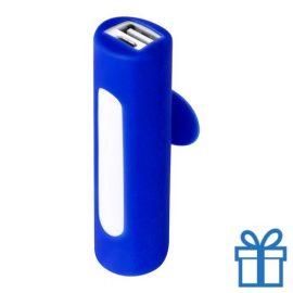 USB power bank zuignap 2200 mAh blauw bedrukken