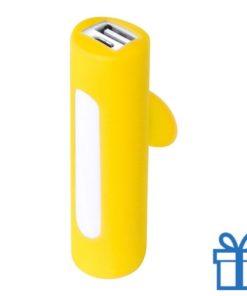 USB power bank zuignap 2200 mAh geel bedrukken