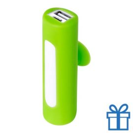 USB power bank zuignap 2200 mAh lime bedrukken