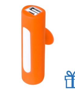 USB power bank zuignap 2200 mAh oranje bedrukken