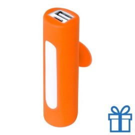 USB power bank zuignap 2200 mAh oranje bedrukken