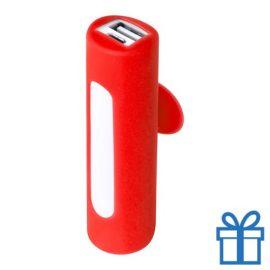 USB power bank zuignap 2200 mAh rood bedrukken