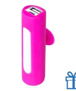 USB power bank zuignap 2200 mAh roze bedrukken