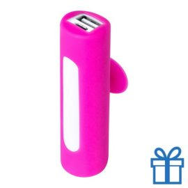 USB power bank zuignap 2200 mAh roze bedrukken