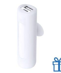 USB power bank zuignap 2200 mAh wit bedrukken
