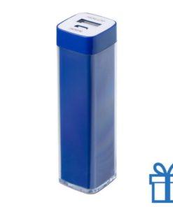 USB powerbank kunststof 2000 mAh blauw bedrukken