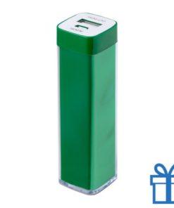 USB powerbank kunststof 2000 mAh groen bedrukken