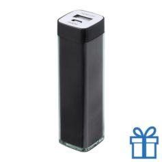 USB powerbank kunststof 2000 mAh zwart bedrukken