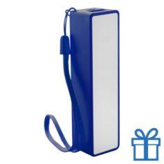 USB powerbank polsbandje 2000 mAh blauw bedrukken