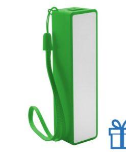 USB powerbank polsbandje 2000 mAh groen bedrukken