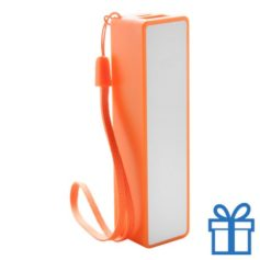 USB powerbank polsbandje 2000 mAh oranje bedrukken
