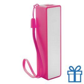 USB powerbank polsbandje 2000 mAh roze bedrukken