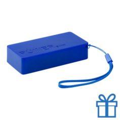 USB powerbank set 4000 mAh blauw bedrukken