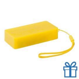 USB powerbank set 4000 mAh geel bedrukken