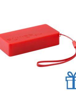 USB powerbank set 4000 mAh rood bedrukken