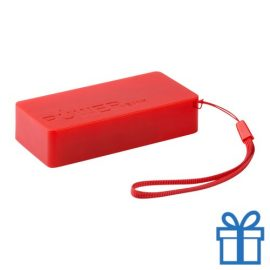 USB powerbank set 4000 mAh rood bedrukken