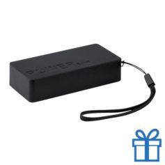 USB powerbank set 4000 mAh zwart bedrukken