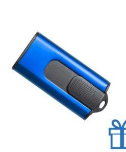 USB stick aluminium modern 8GB blauw bedrukken