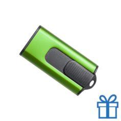 USB stick aluminium modern 8GB groen bedrukken