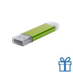 USB stick aluminium type C 8GB groen bedrukken