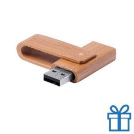 USB stick bamboe 8GB bedrukken