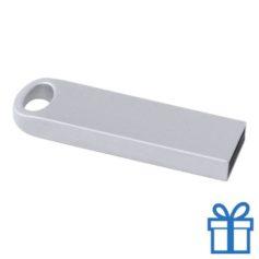 USB stick metaal 8GB zilver bedrukken