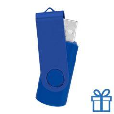USB stick simpel 8GB blauw bedrukken