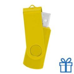 USB stick simpel 8GB geel bedrukken